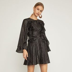 NWT $348 BCBG Maxazria Womens M Ruffle Dress